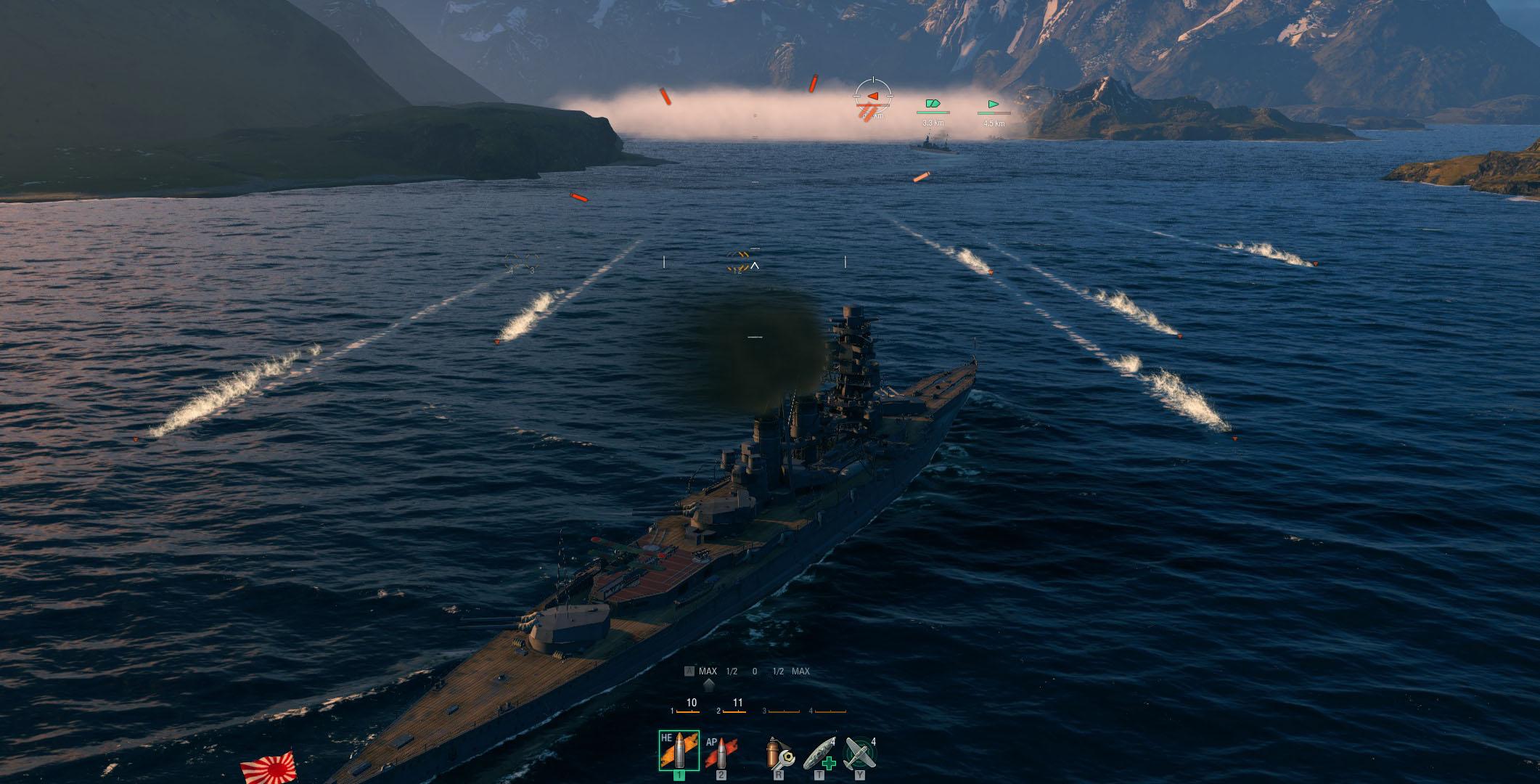 WoWs 魚雷を避けよう