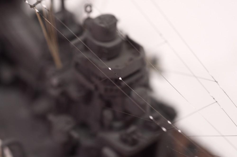 艦船模型 張り線